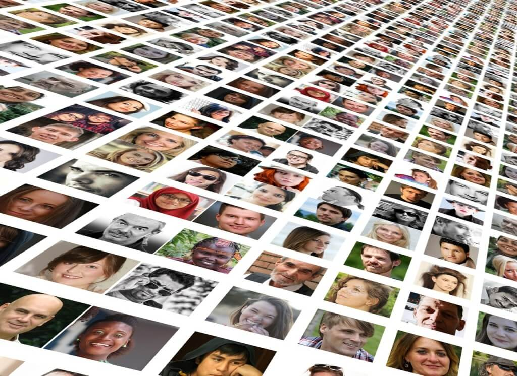 Fotocollage von Menschen