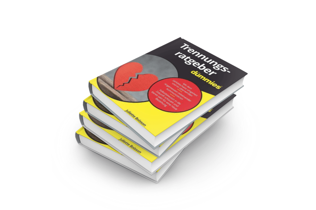 Buchcover schwarz weiss trennungsratgeber für dummies mit geborchenem Herz